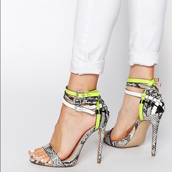 Carvela Gazed Snake Print Heeled Sandals